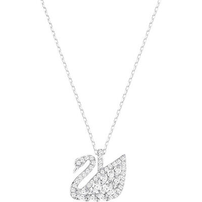 8a3391fd5016 SWAROVSKI SWAN LAKE Pendant Rhodium Plated Necklace 5296469 -  77.07 ...