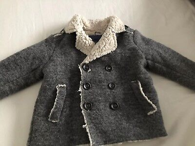 Baby Boys ZARA Grey Wool Coat  9-12 Months