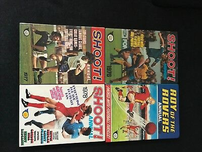 Shoot Annuals 1976- 1978 & Roy of the Rovers1978 all in excellent condition