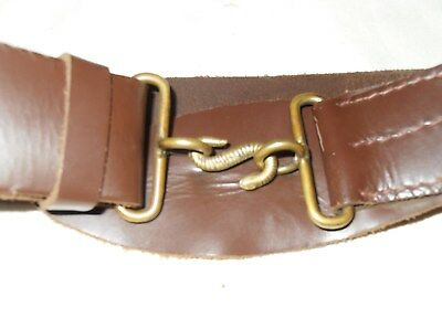 "Victorian Repro Brown Leather ""S"" clasp waist belt"