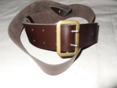 Victorian Repro Brown Leather Cartouche Ammo Sling