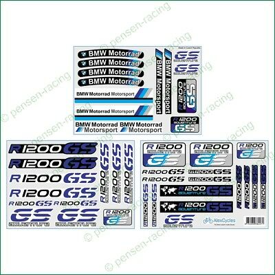R1200GS BMW Motorrad Motorsport Racing Adventure Laminated Decals Stickers Kit
