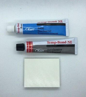 Kerr Temp-Bond NE TUBES Regular Non-Eugenol Temporary Cement Plastic Tubes
