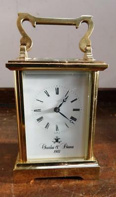 charles & diana brass cased carriage clock