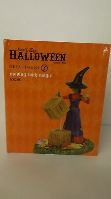 Dept 56 Snow Village Halloween Moving With Magic 6002303 Witch MIP