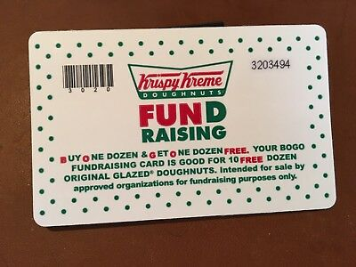 KRISPY KREME Fundraising BOGO Card Does NOT EXP ***BUY 1 Dozen & GET1 Dozen***