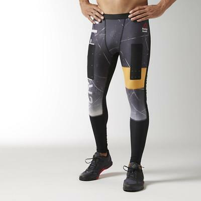 10e5bdcf8f1db Reebok Men's Crossfit Engineered Compression Tight Training Leggings B45188