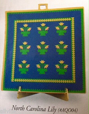 North Carolina Lily  #aq004 Shelia's 1997 Amish Quilt Historical Ornament