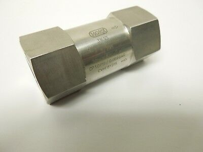 """Hoke Cvhf8Y21S 1/2"""" Poppet Check Valve 6000 Psi Cp 1.0 Fnpt Connection <Cvhf8Y"""