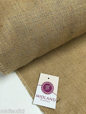 """10oz Hessian Jute ideal for craft, bags sacks cloths & upholstery 60"""" Wide M50-2"""