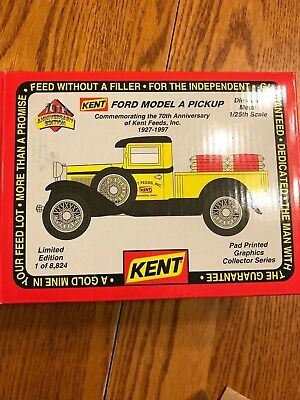 KENT FEEDS 70 Anniv Model A Ford Pickup Truck Spec Cast Toy 1997 Ltd Ed TIN BOX