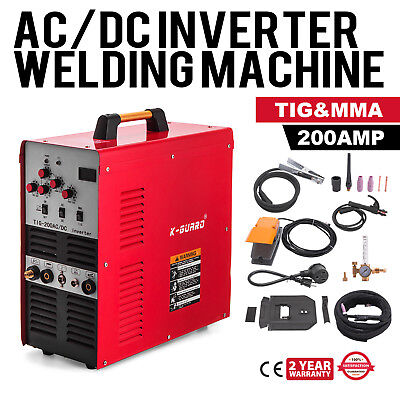 Welder AC/DC TIG 200 Amp IGBT PULSE Portable W/ Foot Pedal Stainless Steel