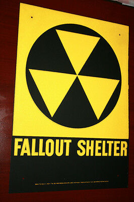 2 Fallout shelter sign original not a reproduction   Free SHIPPING To CANADA