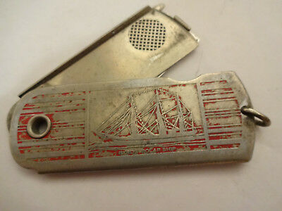 Vintage 1933 Century of Progress Byrd's Polar Ship Razor Blade Pocket Knife