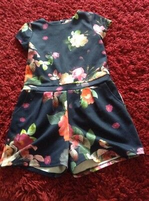 Ted Baker Age 11-12 Floral Playsuit Perfect Parties Casual