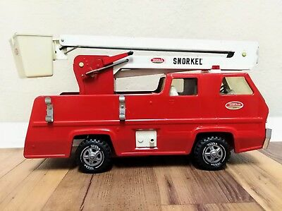 Late 1960's Vintage Pressed Steel Tonka Fire Truck Snorkel Pumper Lift Bucket