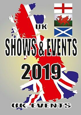 2019 Uk Shows & Events Guide Book - Coffee Donut Burger Hot Dog Ice Cream Van