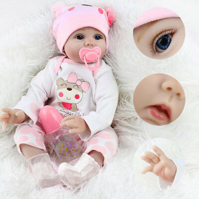 Hot Sale Dolls Realistic Silicone Vinyl Reborn Baby Girl Doll Xmas Gifts