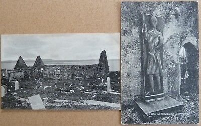 2 Old Postcards of Eye Church, Stornoway, Isle of Lewis, Outer Hebrides.