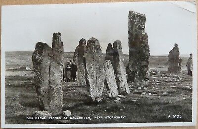 RP Postcard of Callanish Standing Stones, Isle of Lewis, Outer Hebrides.