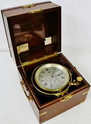 Rare Antique 2 Day English T.L Ainsley Single Fusee Military Marine Chronometer