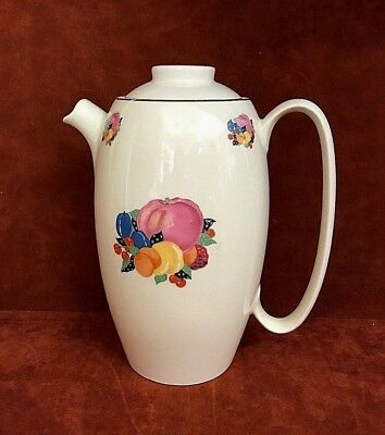 1940's Vintage W.S. George Cavitt Shaw Fruit Country Gentlemen Coffee Pot 187A
