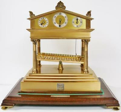 Rare Vintage Thwaites & Reed Palladium Congreve Mystery Automation Table Clock