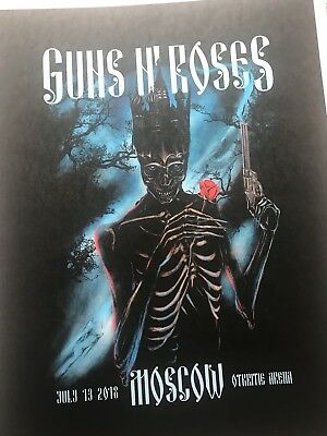 GUNS N ROSES MOSCOW LITHOGRAPH - 13th July 2018