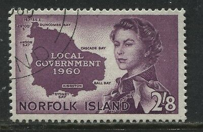 Norfolk Island 1960 2/8d used