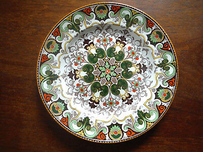 """Vintage Hand Painted Wedgwood ROUEN Etruria Green 10.25"""" Dinner Plate, England"""