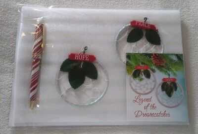 LEGEND OF THE DREAMCATCHER-CHRISTMAS ORNAMENTS PEACE AND HOPE & Pen New