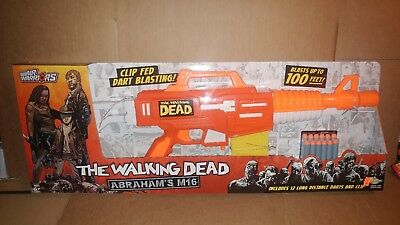 Air Warriors The Walking Dead Abraham's M16 Toy Gun Dart Blaster Elite Strike
