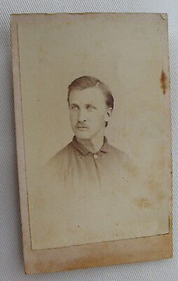 Cdv Photo Of Confederate ? Cw Soldier John E. Hobson By Oliphant Austin Texas