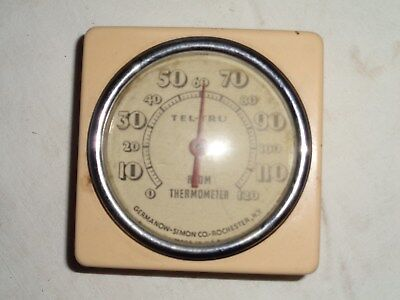 antique TEL-TRU ROOM THERMOMETER~Household tool