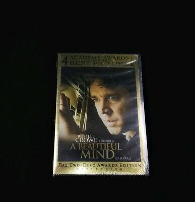 A Beautiful Mind (DVD, 2002, The Two-Disc Awards Edition, Widescreen) New Sealed