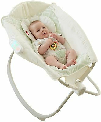 Fisher Price Deluxe Newborn Baby Auto Rock 'n Play Sleeper with Smart Connect