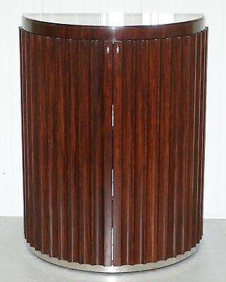 New Rrp £10,500 Ralph Lauren Penthouse Fluted Rosewood Drinks Cabinet Cupboard