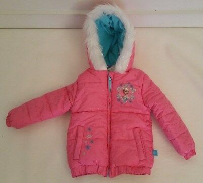 ab449184758d DISNEY FROZEN HOODED Winter Pink Jacket N/W/T Elsa And Anna Size 2T ...