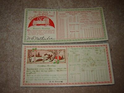 LOT A VINTAGE CHRISTMAS ink blotters POST OFFICE POSTAL RATES minden nebraska