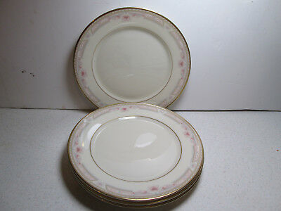 """4 - Lenox """"Bellaire"""" Metropolitan Collection Bread and Butter Plates w/Gold Trim"""