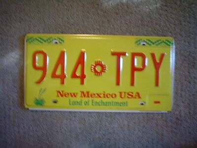 New Mexico Loe      License Plate    Buy All States Here