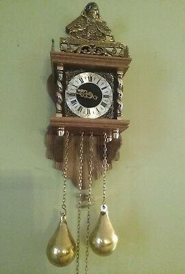 Vintage  WARMINK DUTCH ZAANSE ZAANDAM WUBA CHIME CLOCK