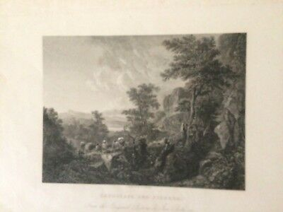 LANDSCAPE  Paesaggio incisione   di BENTLEY  London 1836