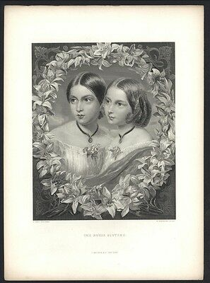 The Royal  Sisters from the picture in the Royal Collection in The art Journal