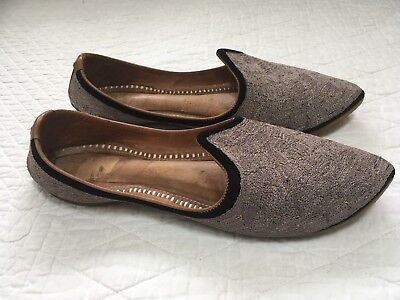 Vintage Handcrafted Ethnic Turkish Leather Moorish Slipper Shoes Women's 8.5