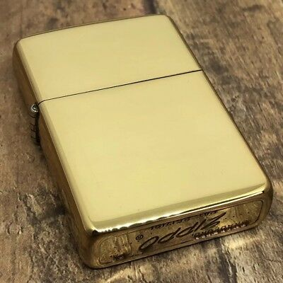 1958 Vintage Zippo Lighter - Rare Gold Plated - Made by Zippo for Roseart
