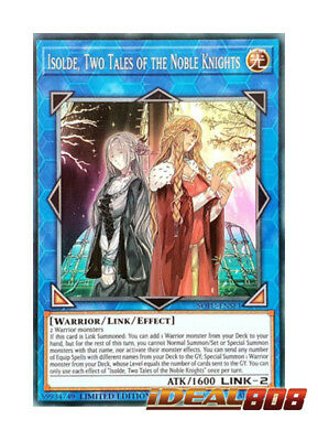 YUGIOH x 1 Isolde, Two Tales of the Noble Knights - SOFU-ENSE1 - Super Rare - Li