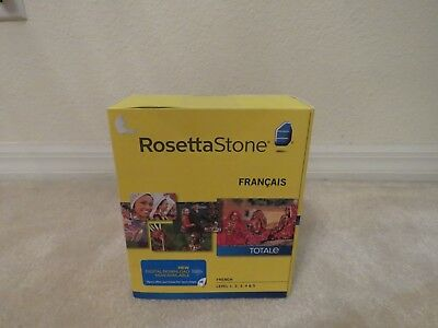 Rosetta Stone French Level 1-5 1, 2, 3, 4, 5 Version 4 Totale New Sealed