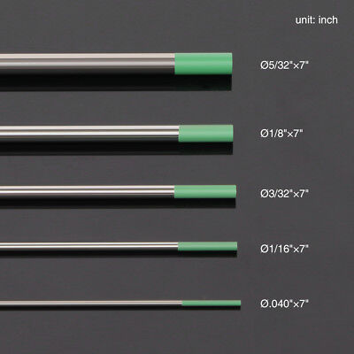 """10-pk  .040""""-5/32"""" by 7"""" length TIG Welding Tungsten Electrode Pure 