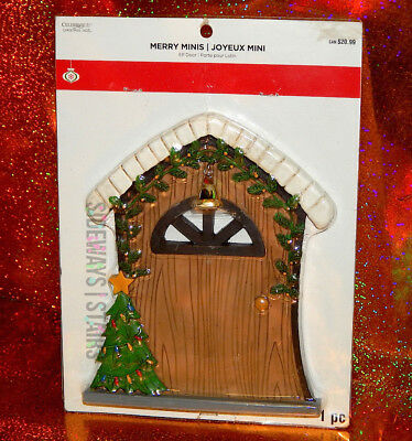 "8"" ELF DOOR CHRISTMAS DECORATION Celebrate It Merry Minis fairy holiday elves"